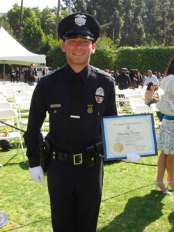 march 27 2009 it was more than just a graduation ceremony for one of the lapds newest officers it was the fulfillment of a life long dream
